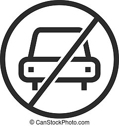 No Parking - No, parking, sign icon vector imageCan also be...