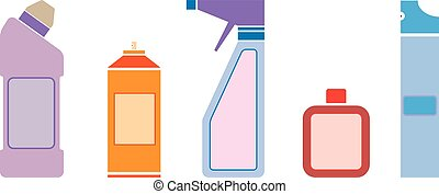 household chemicals - Set of abstract household chemicals