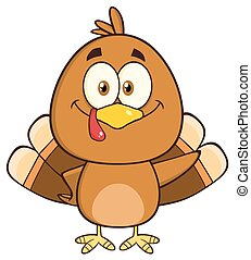 Cute Turkey Bird Character