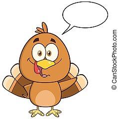 Funny Turkey Bird Character
