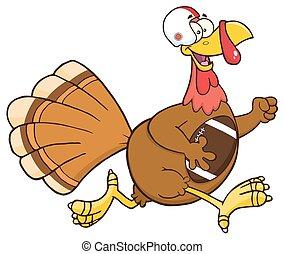Football Turkey Bird Character - Football Turkey Bird...
