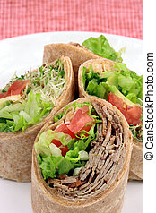 organic sandwich wraps - fresh sandwich wrap made with...