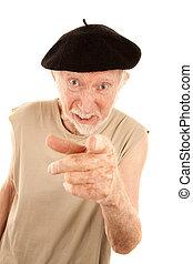 Unpleasant Senior Man