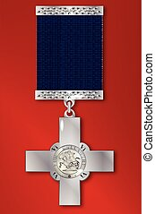 George Cross Medal - The George Cross medal awarded for...