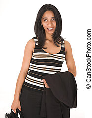 African Businesswoman - Young adult African-Indian...