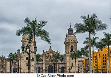 Lima Cathedral - Plaza Mayor, Lima, Peru