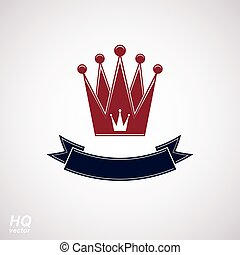 Vector imperial red crown