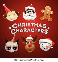 Christmas cute characters