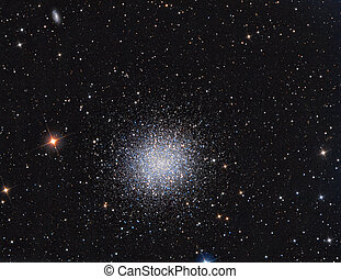 M13 Globular Cluster in constellation Hercules imaged with a...