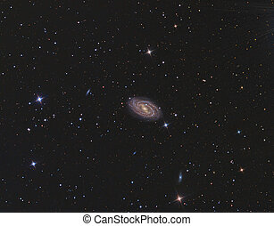 M109 Galaxy imaged with a telescope and a scientific CCD...