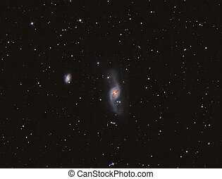 NGC 3718 Galaxy imaged with a telescope and a scientific CCD...