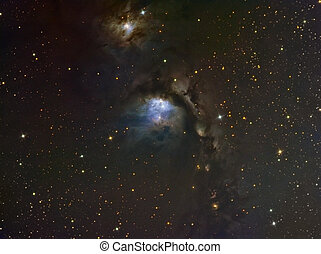 M78 Nebula imaged with a telescope and a scientific CCD...