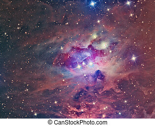 NGC 1973 Running Man Nebula imaged with a telescope and a...