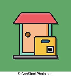 logistic warehouse icon vector