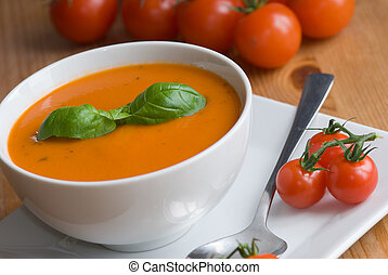 Tomato soup - Freshly made tomato and basil soup