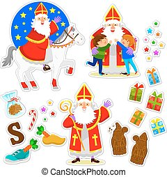 Sinterklaas collection - set of cartoons for the holiday of...