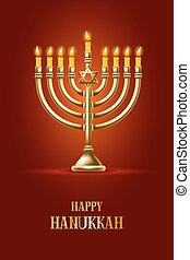 Happy Hanukkah - Elegant greeting card for Happy Hanukkah,...