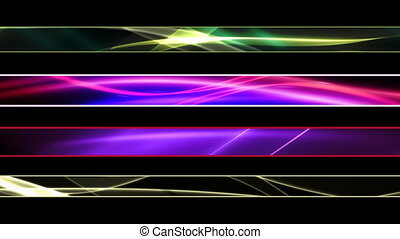 Abstract Flowing Lower Thirds - Looping Abstract Flowing...