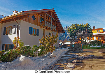 Beautiful modern cottage in Garmisch-Partenkirchen on a...