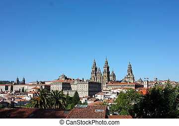 Cathedral - Santiago de Compostela, Spain - The cathedral of...