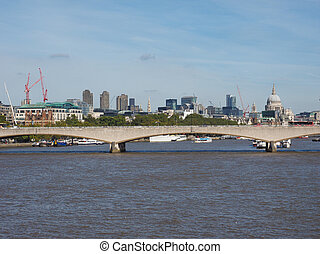 Waterloo Bridge in London - Waterloo Bridge over River...