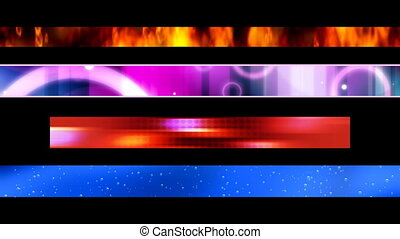 Abstract Looping Lower thirds 24 - Looping Abstract Lower...