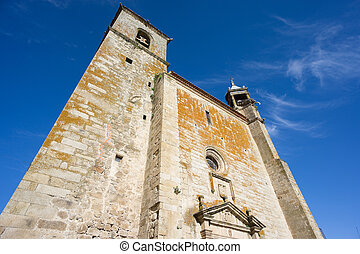 Saint Martins church in Trujillo Spain - Wide angle of Saint...