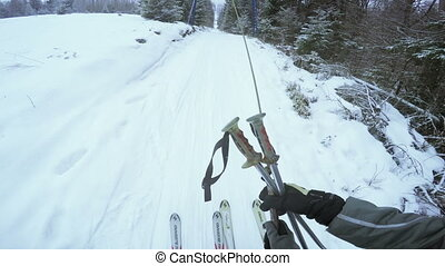 Ascent to rope tow