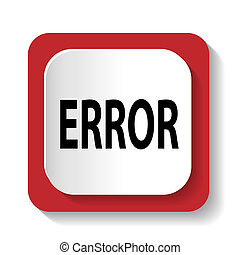 icon with the word ERROR