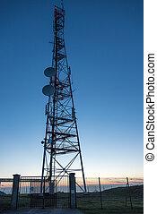 Transmitting antenna - Silhouette of Transmitting antenna...