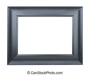 A black picture frame