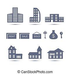 Real Estate vector icons. - Real Estate vector icons set...