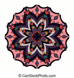 Ornament beautiful pattern with mandala. Geometric circle element made in vector