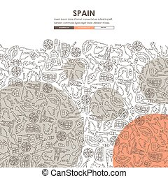 Spain Doodle Website Template Design - Spain Website...