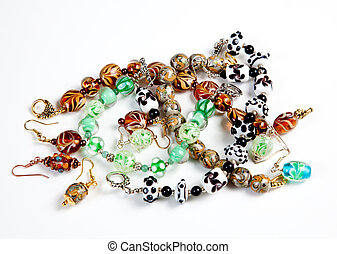 Various hand made bracelets - A selection of hand made...