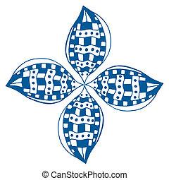 Rosette ornament Isolated on white Art Illustration
