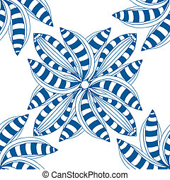 Blue pattern. - Art seamless blue pattern. Isolated on white