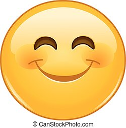 Smiling emoticon with smiling eyes