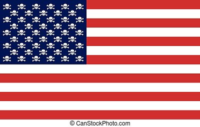 USA flag - An illustration of the American flag as a...