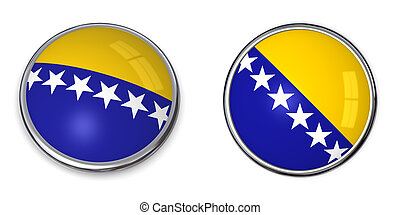 Banner Button Bosnien Herzegovina