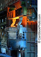 ladle furnace in steel plant