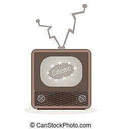 Realistic vintage TV