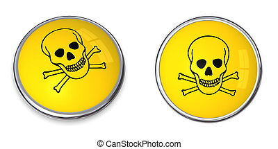 Button Poison Warning Symbol