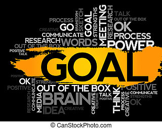GOAL Word business collage, vector background
