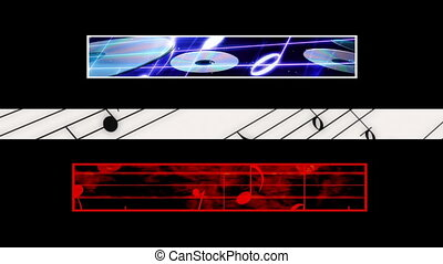 Music Lower Thirds 211 Loop - Looping Music Lower Thirds