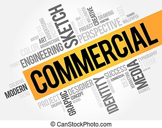 COMMERCIAL word cloud, business concept