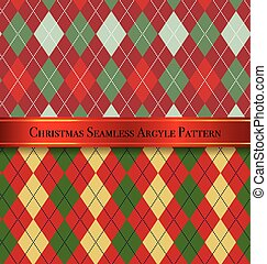 Christmas Seamless Argyle Pattern Design Set 4