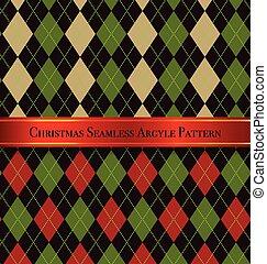 Christmas Seamless Argyle Pattern Design Set 5