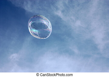 Air bubble in front of the sky