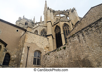 Narbonne France, gothic cathedral - Narbonne Aude,...